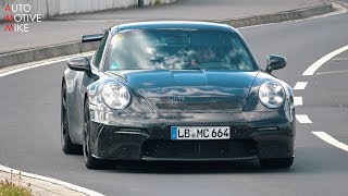 2020 porsche 992 gt3 spied testing at the nrburgring