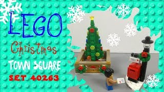 Lego Christmas Town Square Set 40263 Unpacking Toys review.