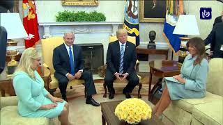 ترمب يعرب عن نيته حضور فعاليات نقل السفارة الأمريكية إلى القدس المحتلة - (6-3-2018)