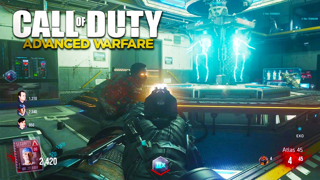 Call Of Duty Advanced Warfare Zombies Gameplay New Advanced Warfare Exo Zombies Dlc Gameplay Youtube