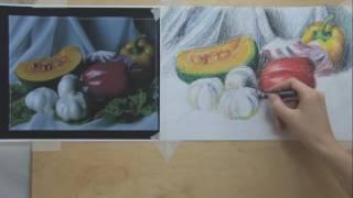 26.2  Аппетитные овощи масляной пастелью \ часть 2