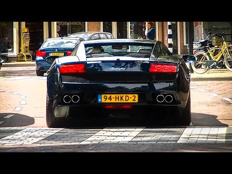 Supercars in Laren - 458 Spider, Gallardo LP560-4, DBS, F430!