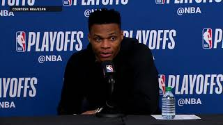 Russell Westbrook Press Conference - Game 6 | Jazz Eliminate Thunder