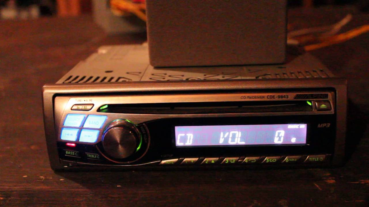 alpine cd receiver cde 9843 deck overview of use youtube rh youtube com Alpine CDE 9843 Review Alpine CDE 9845 Manual