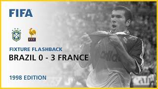 Brazil 0 3 France France 1998 Fixture Flashback