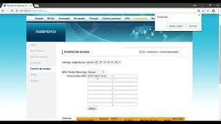 Control de acceso mediante wifi en Ubee UBC1307