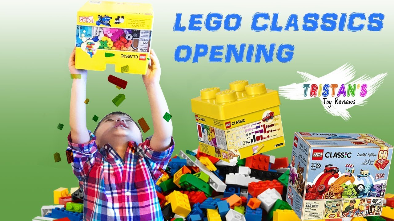 Legos Classic Opening Unboxing & Learning Colors | Legos Creative Bricks  10715 & 10692