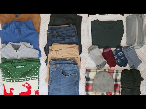 how to pack winter clothes in luggage