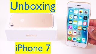 iPhone 7 Unboxing and Setup - 32 GB Gold