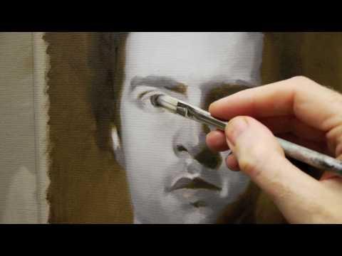 How to paint a Portrait in Oils  TimeLapse Self Portrait Course