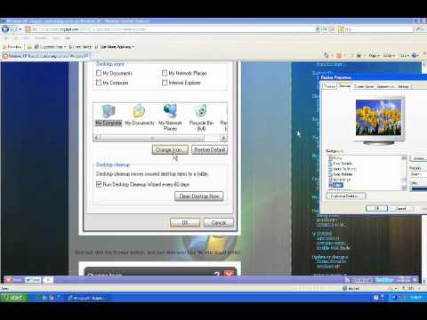 Customizing desktop icons