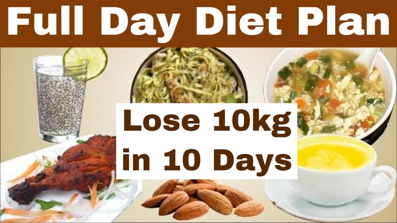 Full Day Diet Plan For Weight Loss, Lose 10kg in 10 Days ...
