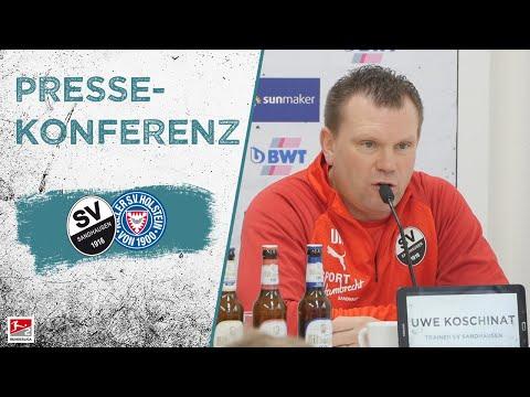 Pressekonferenz   nach dem Spiel   SV Sandhausen - Holstein Kiel
