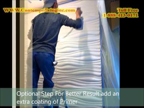 Installation der 3d wandpaneele wandverkleidung wan for Coole wanddesigns