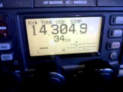 BETTER QUALITY VIDEO NO 2 OF THE ICOM IC-M802 MF/HF TX RX IN USE ON AMATEUR RADIO JAN1ST 2013
