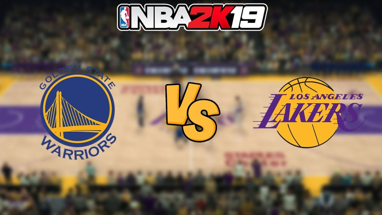 6f37e4159e25 NBA 2K19 - Golden State Warriors vs. Los Angeles Lakers - Full ...
