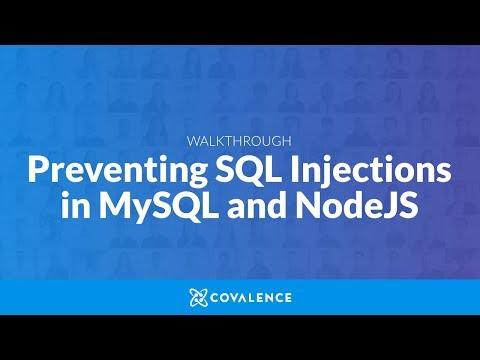 Walkthrough: Preventing SQL Injections In MySQL And NodeJS