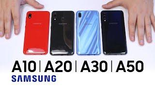 Купив Galaxy A10 замість Galaxy A40. Розпакування, огляд та порівняння з Samsung Galaxy A20, A30, A50