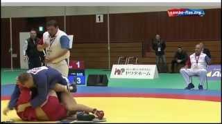 Дмитрий Елисеев на чемпионате мира по самбо  2014 год. Япония.