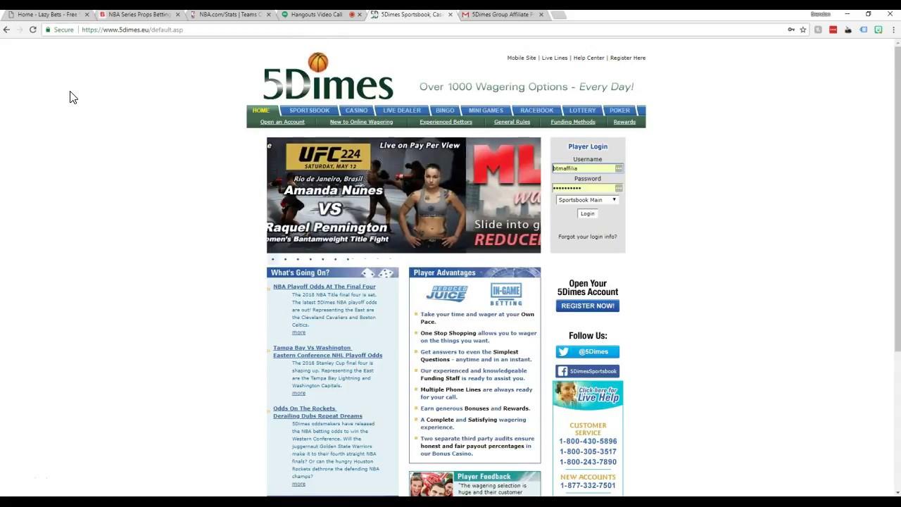 5Dimes Top Sportsbook Review