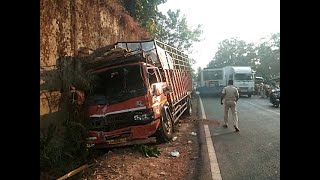 Accident At Kundaim Between Truck And Bus, Injured Shifted To Hospital