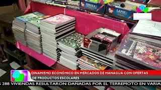 Multinoticias | Dinamismo económico en mercados de Managua con ofertas de productos escolares