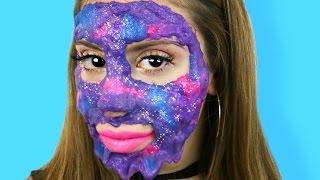 DIY Galaxy Slime Peel-Off Face Mask!