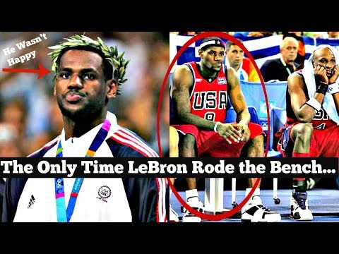 The ONLY Time LeBron James was a BENCHWARMER