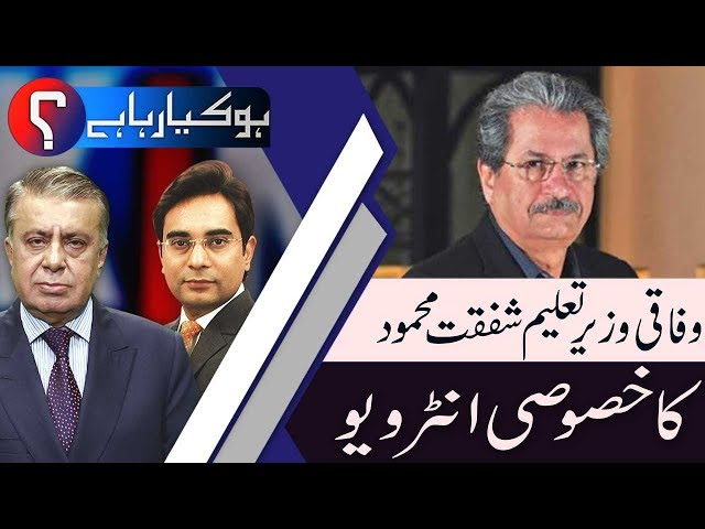 Ho Kya Raha Hai |Exclusive Interview With Shafqat Mahmood,Federal Minister for Education|13 Dec 2018