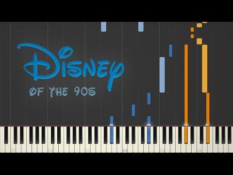 Disney 90s Nostalgia  Synthesia Piano Medley