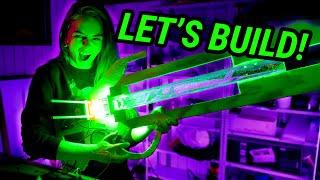 Making A Giant 100W LED Laser Gun!