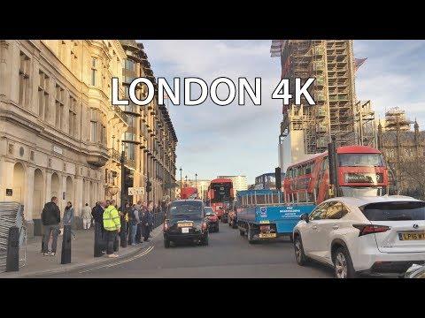 London 4K - Sunset Drive - Central London UK