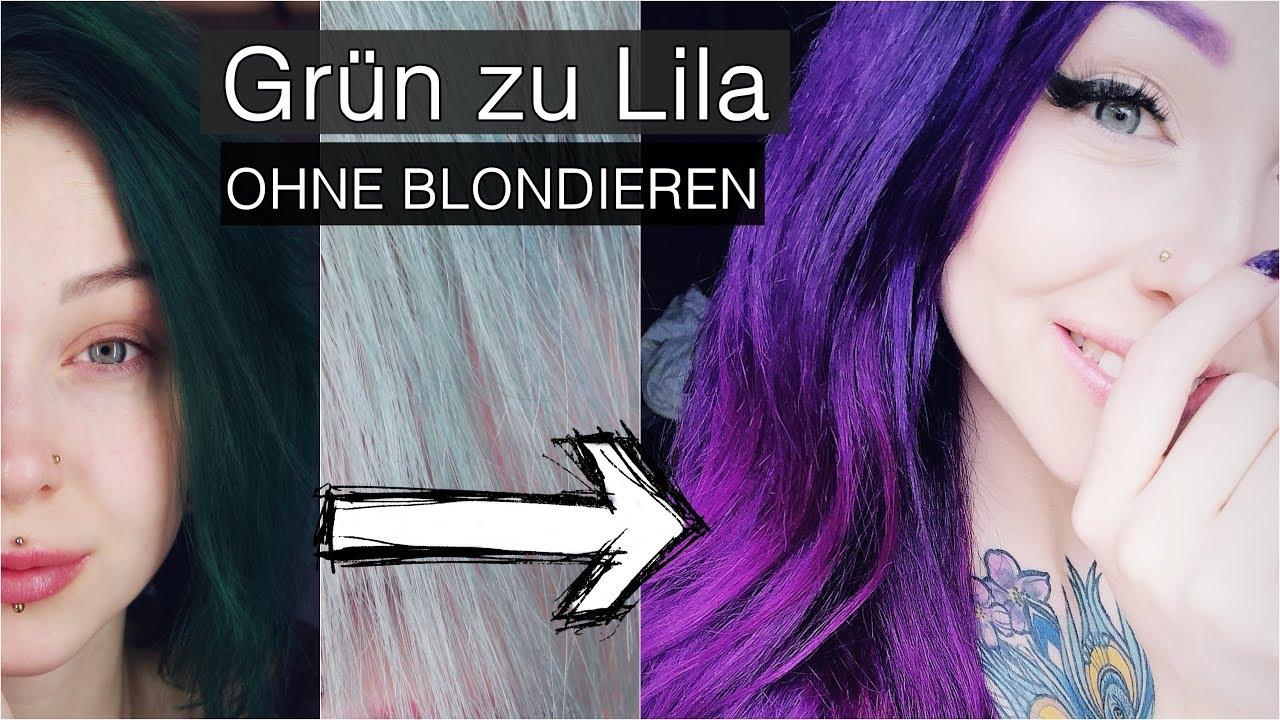 Lila haare nach blondierung