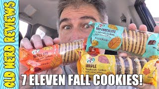 7 Eleven Fall Cookies REVIEW 🍂🍪