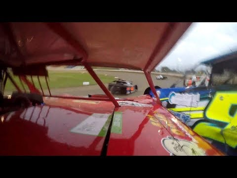 September 13, 2018. Second day of the Wissota 100. The team traveled the 45 miles north to I-94 Speedway, Fergus Falls, Minnesota. Jeff started heat 1 from ... - dirt track racing video image