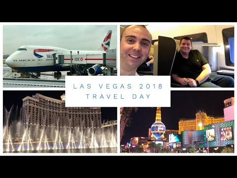 Las Vegas Vlog - March 2018 - Day 1 - Travel Day  - British Airways flight, Hotel and Fountains