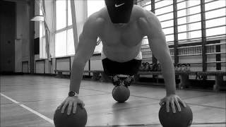 Bring Sally Up Bring Sally Down Push Up challenge on 3 medicine balls - Bootcamp in South Shields