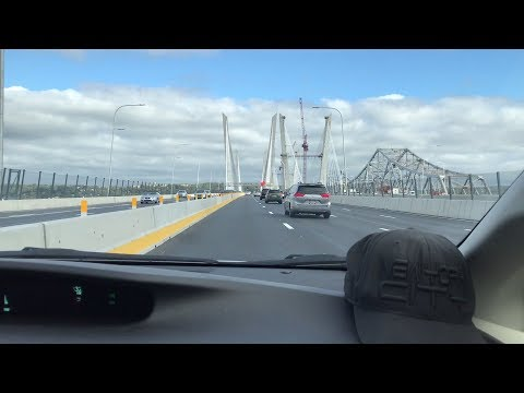 Driving East Over Governor Mario M. Cuomo Bridge Tappan Zee Bridge Replacement (10/15/17)