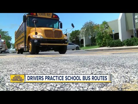 Bus drivers practice routes before heading back to school