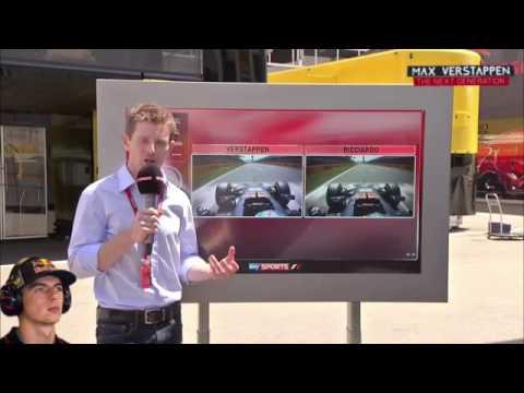 Post-Qualifying: Analysis of Ricciardo and Verstappen's Q2 lap #SpanishGP 2016 (👍Ky)