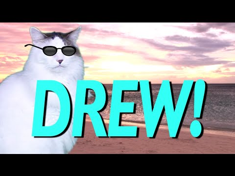 happy birthday drew HAPPY BIRTHDAY DREW!   EPIC CAT Happy Birthday Song   YouTube happy birthday drew