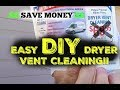DIY Dryer Vent Duct Cleaning
