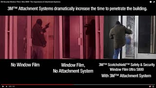 3M Security Window FIlms- Ultra S800- The Importance Of Attachment Systems