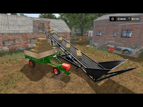 Loading hay bales into hayloft | Small Farm | Farming Simulator 2017 | Episode 14