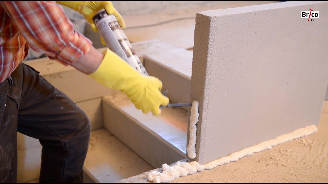 Coller Des Plaque De Plâtre Au Mur Tuto Brico De Robert Pour Utiliser La Mousse Polyuréthane