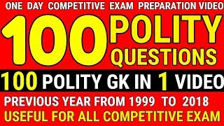 POLITY : PARLIAMENT & CONSTITUTION | Indian polity GK IN ENGLISH | Syllabus | SSC CGL CPO MTS GD BB
