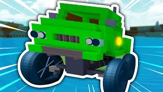 HOW TO BUILD A MONSTER TRUCK IN ROBLOX BUILD A BOAT FOR TREASURE!!