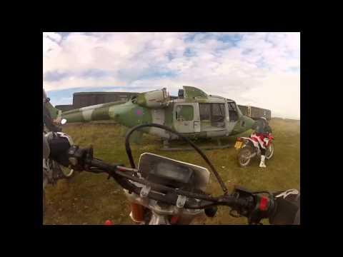 Salisbury plain playing with dirt bikes