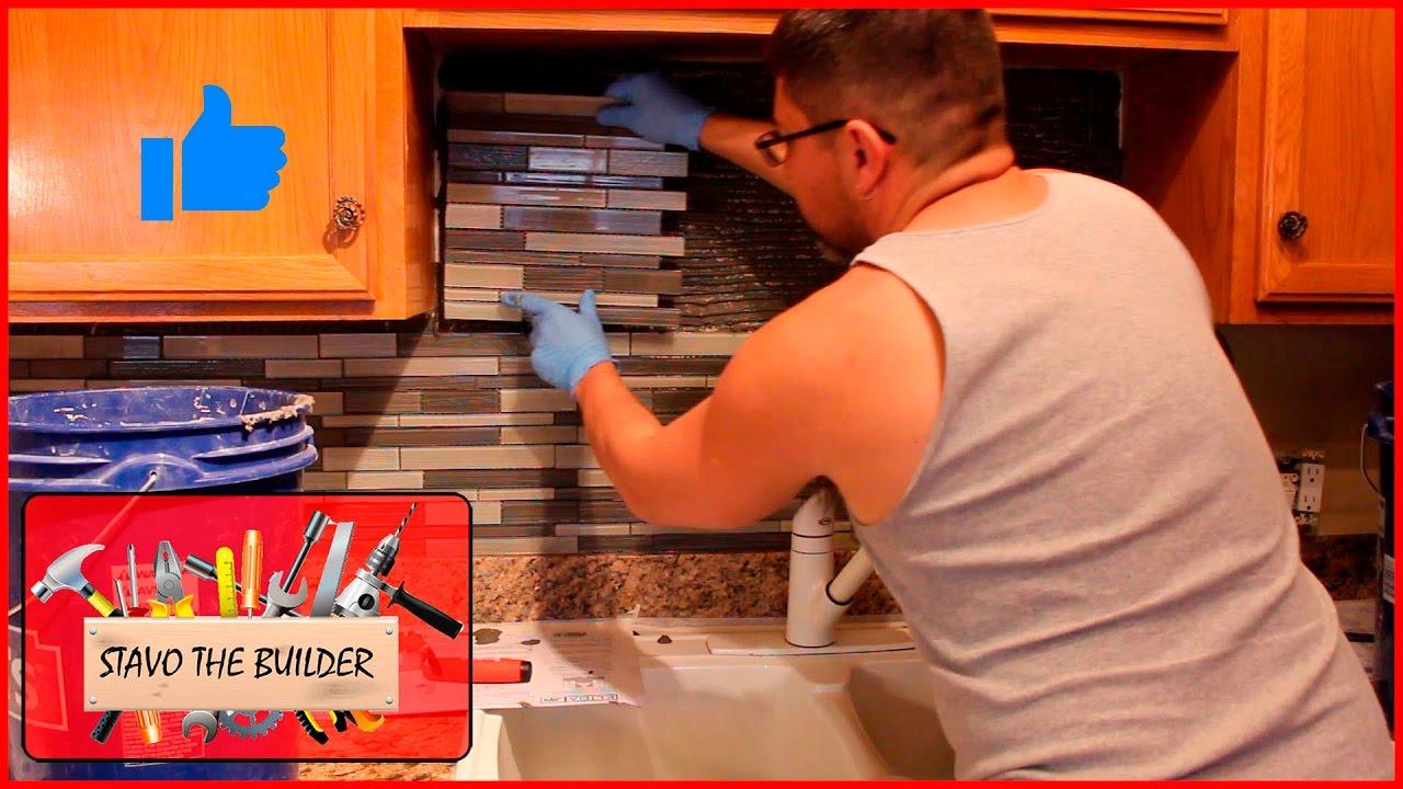 Como instalar salpicadero para cocina (mosaico en cristal ...
