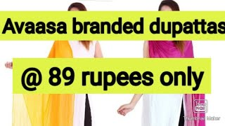 Ajio 🔥 avaasa branded dupattas @ ₹89 # live offers# don't miss screenshot 2